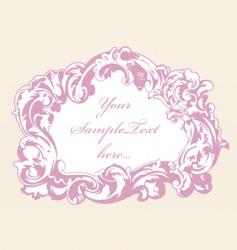 vintage pink frame vector image vector image