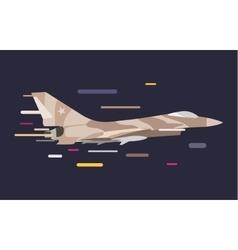 War military plane vector image