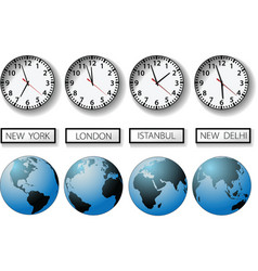 world time zones vector image vector image