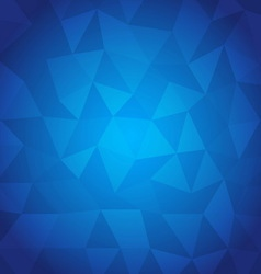 Abstract triangle with blue background vector image