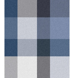 blue check fabric vector image