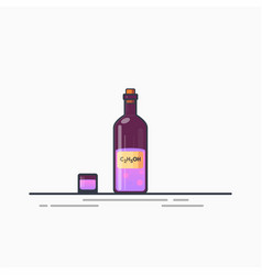 bottle of potion vector image vector image