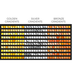 bronze gold and silver gradient set vector image vector image