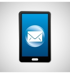 smartphone email social network media icon vector image vector image