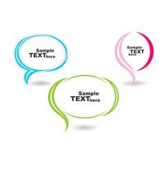 speech colour bubbles text vector image