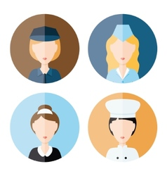 women profession icons vector image vector image