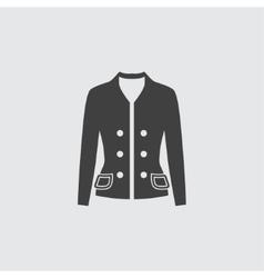 Woman jacket icon vector image