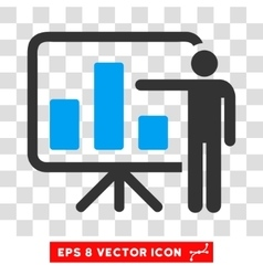 Bar Chart Presentation Eps Icon vector image vector image