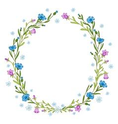 Floral wreath composition vector image