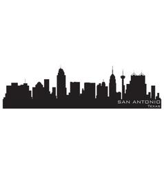 san antonio texas skyline detailed silhouette vector image vector image