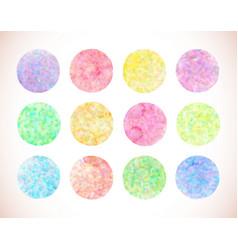 set of pastel watercolor circles vector image vector image