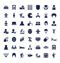 49 person icons vector
