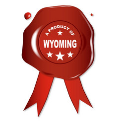 a product of wyoming vector image