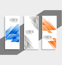 abstract set of geometric banners vector image