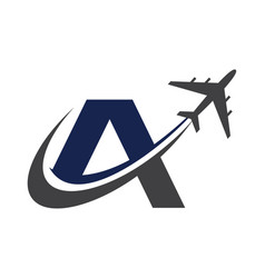 Airplane company logo traveling logo vector
