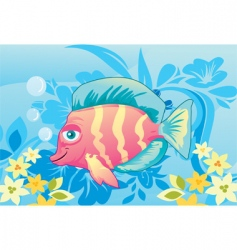 Artistic fish vector