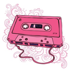 Audio cassette Retro cassette tape vector