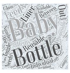 baby bottles Word Cloud Concept vector image