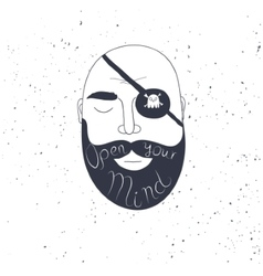 Beard man creative quote for your design vector image