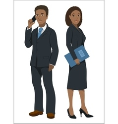 Black afroamerican business people vector