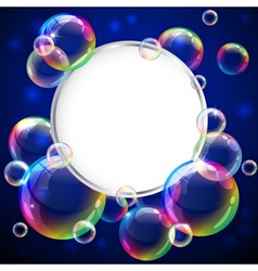 Bubbles frame vector image vector image