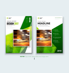 business brochure or flyer design leaflet vector image