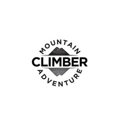 climber mountain adventure logo designs vector image