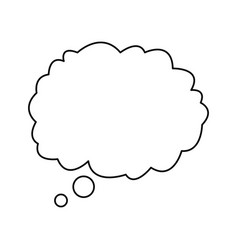 cloud talking speech outline design vector image