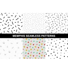 Collection of abstract memphis patterns vector