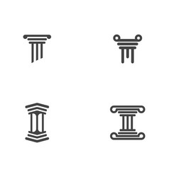 column icon logo template vector image