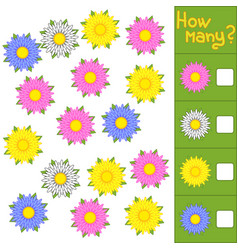 counting game for preschool children for the vector image