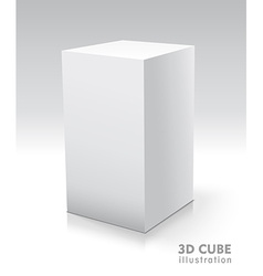Cube white icon Template for your design vector image