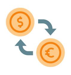 Currency exchange flat vector