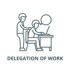 Delegation work line icon linear vector