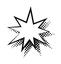 Dialogue bubble in star form flat isolated vector