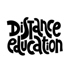 distance education phrases vector image