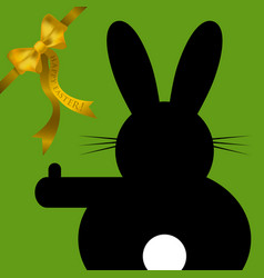 Easter wishes - sitting and hitchhiking bunny vector