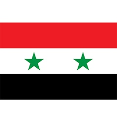 Flag of Syria vector image