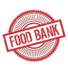 Food bank stamp vector image