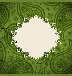 frame in the indian style on a grunge background vector image