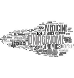 Genomics word cloud concept vector
