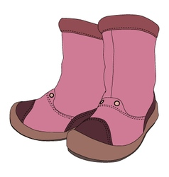 Girl boots on white background vector