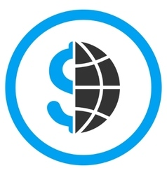 Global Business Rounded Icon vector image