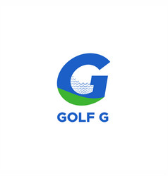 golf g logo vector image