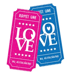 His and hers love tickets vector