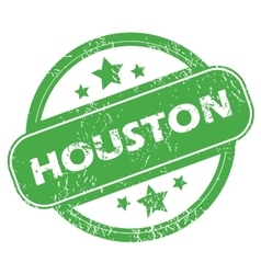 Houston green stamp vector image