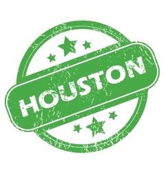 Houston green stamp vector