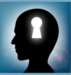 Human head with a keyhole vector