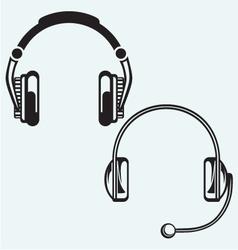 Icon headphones vector