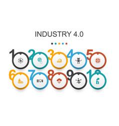 Industry 40 infographic design templateinternet vector